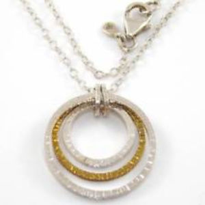 N2296 Silpada Sterling INNER CIRCLES Necklace B